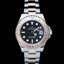 Rolex Yacht-Master 37 Gold/Steel 37mm Black No numerals