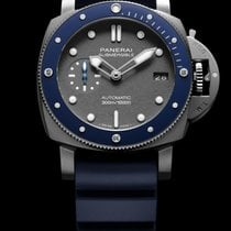 Panerai Luminor Submersible Ocel 42mm Šedá Bez čísel