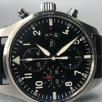 IWC Pilot Chronograph Steel 43mm Black Arabic numerals United States of America, Michigan, Birmingham