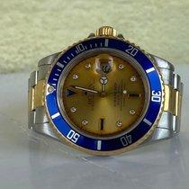 Rolex Submariner Date Acier 40mm Bleu Sans chiffres