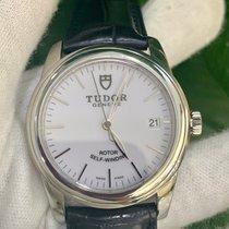 Tudor Glamour Date Stahl 36mm Silber Keine Ziffern