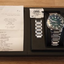 Oris Aquis Date Steel 43.5mm Green No numerals