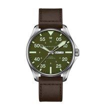Hamilton Khaki Pilot Steel 46mm Green Arabic numerals