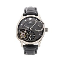 Greubel Forsey Or blanc 43.5mm Remontage manuel GF01 occasion