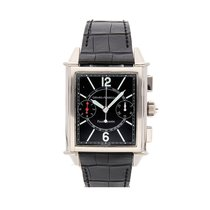 Girard Perregaux White gold Automatic Black Arabic numerals 36mm pre-owned Vintage 1945