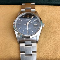 Rolex Oyster Perpetual Date Steel 34mm Blue No numerals Australia, 3150