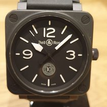 Bell & Ross Ceramic Automatic Black Arabic numerals 46mm pre-owned BR 01-92