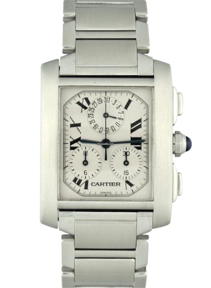 Cartier Tank Francaise Chronoflex 28mm Quartz Men's Watch 2303