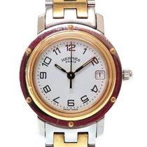 Hermès Clipper 23mm Silber