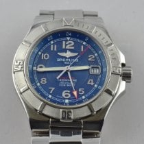 Breitling Colt GMT+ Steel 42mm Blue Arabic numerals