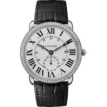 Cartier White gold Automatic Silver Roman numerals 40mm new Ronde Louis Cartier