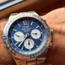 Breitling Hercules Сталь 45mm Синий Без цифр