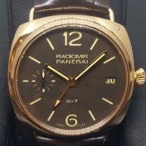 Panerai Rose gold Manual winding Black Arabic numerals 47mm new Radiomir 3 Days GMT