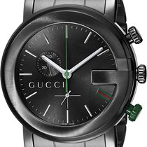 Gucci YA101331 Steel G-Chrono 44mm new