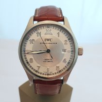 IWC Pilot Mark Steel 39mm Silver Arabic numerals