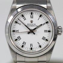 Rolex Oyster Perpetual 31 Stal 31mm Biały Rzymskie