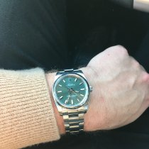 Rolex Oyster Perpetual 34 Steel 34mm Green Arabic numerals United States of America, California, San Francisco