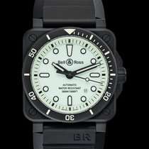 Bell & Ross BR 03 new 2021 Automatic Watch with original box and original papers BR0392-D-C5-CE/SRB