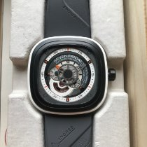 Sevenfriday P3-3 Stal 47.6mm Szary Bez cyfr