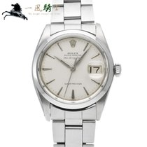 Rolex Air King Date pre-owned 34mm Silver Steel