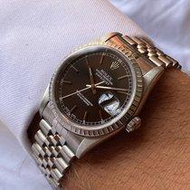 Rolex Datejust Acier 36mm Noir Romains