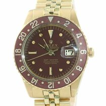 Rolex Yellow gold Automatic Brown 40mm pre-owned GMT-Master