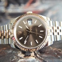 Rolex Datejust II Gold/Steel 41mm Brown No numerals United Kingdom, Whitby- North Yorkshire