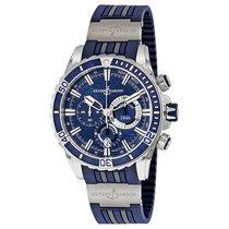 Ulysse Nardin Diver Chronograph Acier 44mm Bleu Sans chiffres