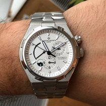 Vacheron Constantin Overseas Dual Time Steel 42.5mm Silver No numerals