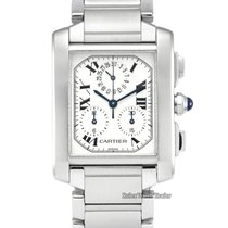 Cartier Tank Française Steel 28mm White Roman numerals United Kingdom, Manchester
