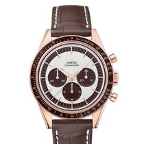 Omega Rose gold Manual winding White No numerals 39.7mm new Speedmaster Professional Moonwatch