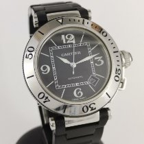 Cartier Pasha Seatimer Acier 40mm Noir Arabes France, Paris