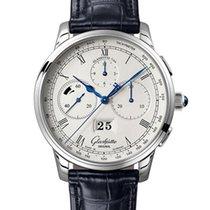 Glashütte Original Platinum Automatic Silver 42mm new Senator Chronograph Panorama Date