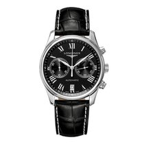 Longines Steel Automatic Black 40mm new Master Collection