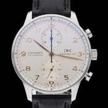 IWC Portuguese Chronograph Staal Zilver Arabisch