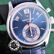Patek Philippe Annual Calendar Chronograph Platinum 40.5mm Blue No numerals United States of America, New York, New York