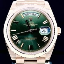 Rolex Day-Date 40 Or rose 40mm Brun Romains