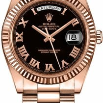 Rolex Day-Date II Rose gold 41mm Brown Roman numerals United States of America, New York, New York