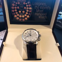 Longines Master Collection pre-owned 44mm Silver Chronograph Date Leather