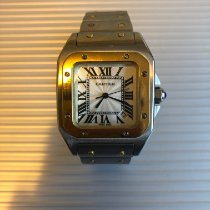 Cartier Santos Galbée pre-owned 29mm White Date Gold/Steel