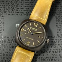 沛納海 Radiomir Black Seal 3 Days Automatic 陶瓷 45mm 棕色 阿拉伯數字 香港, Mong Kok