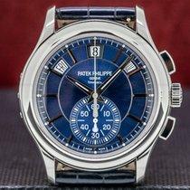 Patek Philippe Annual Calendar Chronograph Platinum 42mm Blue