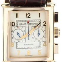 Girard Perregaux Rose gold Automatic White 46.5mm pre-owned Vintage 1945