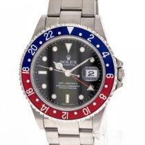 Rolex GMT-Master II gebraucht 40mm Schwarz Datum GMT/Zweite Zeitzone Stahl