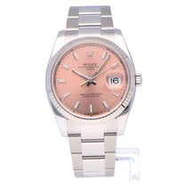 Rolex Oyster Perpetual Date Staal 34mm Roze Geen cijfers Nederland, Amsterdam