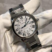 Cartier Ronde Croisière de Cartier Acier 36mm Argent Romains