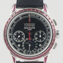Patek Philippe Perpetual Calendar Chronograph Platina 41mm Zwart