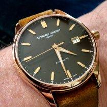 Frederique Constant Classics Index occasion 40mm Brun Date Cuir