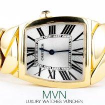 Cartier La Dona de Cartier Yellow gold 28mm Silver Roman numerals