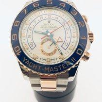 Rolex Yacht-Master II Goud/Staal 44mm Wit Geen cijfers Nederland, Leeuwarden